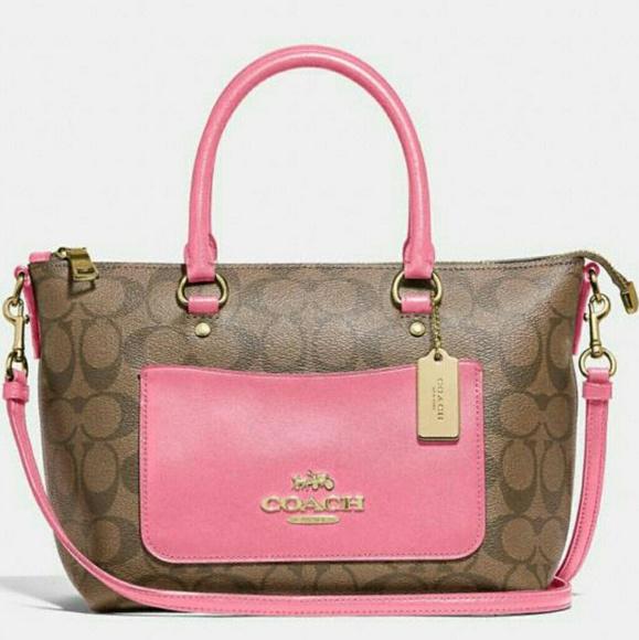 Coach Handbags - 🌷{NEW}Authentic Coach Mini Emma Satchel🌷